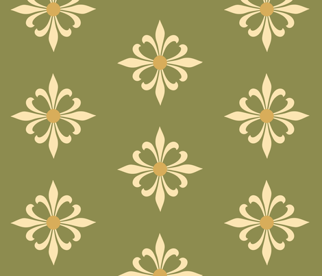 MyMedieval Co-ordinate Green fabric by nyteaqueen on Spoonflower - custom fabric