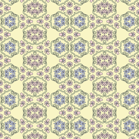 Flower Scrolls fabric by captiveinflorida on Spoonflower - custom fabric