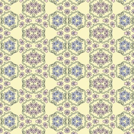 Flower Scrolls fabric by captiveinflorida on Spoonflower - custom fabric