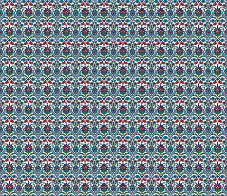TurkishFlowerSquare fabric by zephyrlondon on Spoonflower - custom fabric