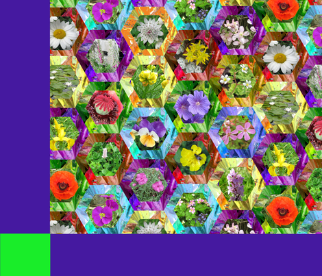 "june flowers quilt fabric by frances""fancy_felter"" on Spoonflower - custom fabric"
