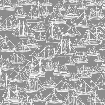 Sailing Ships - Gray