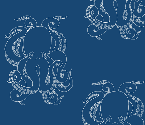 The Octopus fabric by corvus on Spoonflower - custom fabric