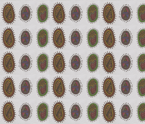 autumnbacteria_trio fabric by jkayep2 on Spoonflower - custom fabric