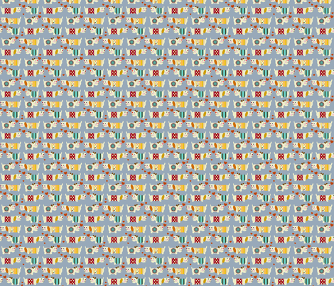 teeny woo woo woofers blue fabric by scrummy on Spoonflower - custom fabric