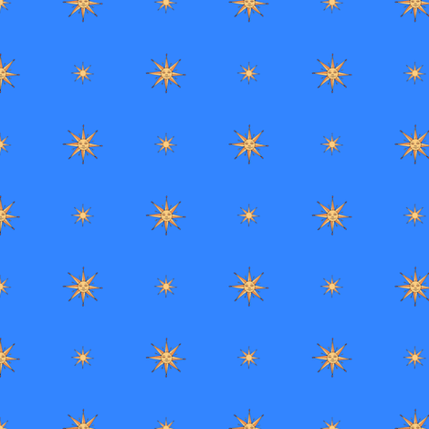 medieval_suns_on_blue fabric by victorialasher on Spoonflower - custom fabric