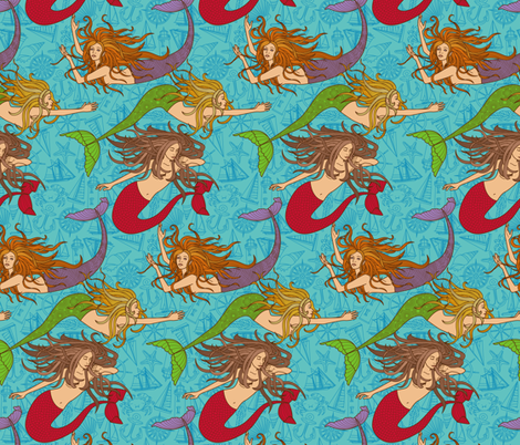 Ship Wreckers fabric by jillianmorris on Spoonflower - custom fabric