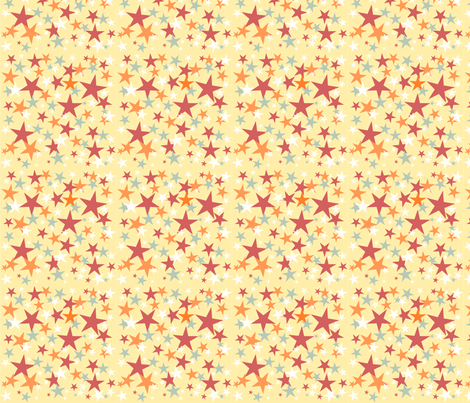 All Star ABC Yellow  fabric by grammak on Spoonflower - custom fabric