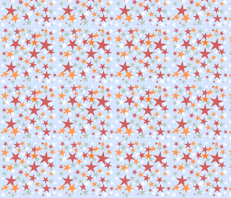 All Star ABC Blue Block fabric by grammak on Spoonflower - custom fabric