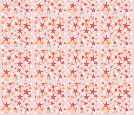 All Star ABC pink  fabric by grammak on Spoonflower - custom fabric