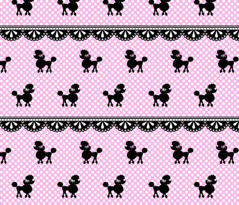 Pink Poodle Polka fabric by mezzo on Spoonflower - custom fabric