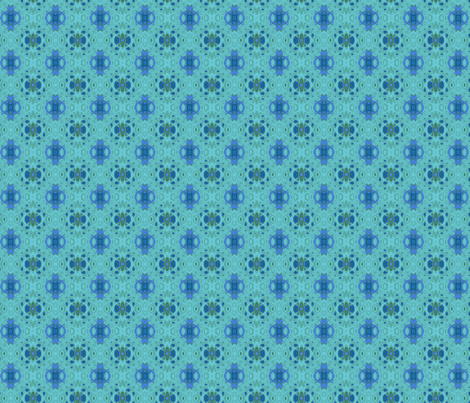 Ocean Villa Lagoon Print 1 large © 2010 Gingezel Inc. fabric by gingezel on Spoonflower - custom fabric