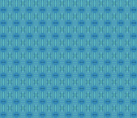 Ocean Villa Lagoon Geometric © 2010 Gingezel Inc. fabric by gingezel on Spoonflower - custom fabric