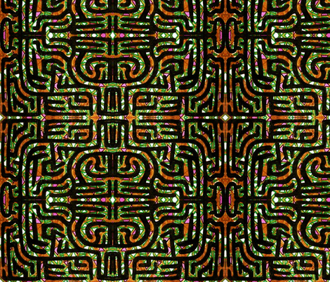 Mayan Maze fabric by patternbase on Spoonflower - custom fabric