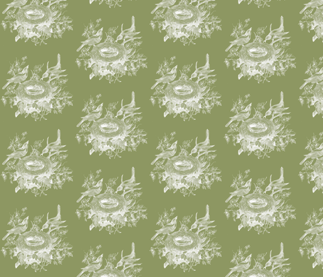 vintagebirds3 fabric by dolphinandcondor on Spoonflower - custom fabric