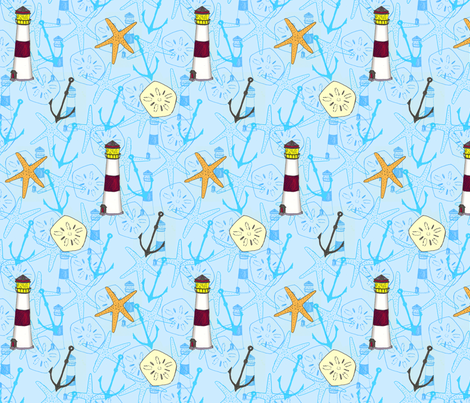 Nautical fabric by siya on Spoonflower - custom fabric