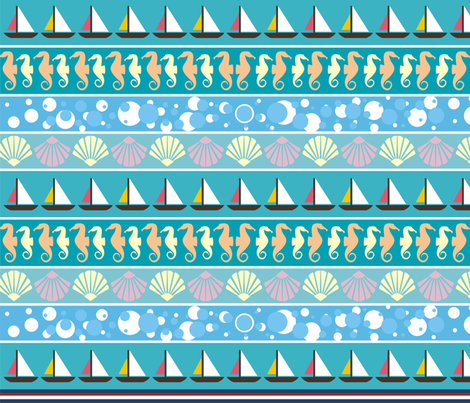 Nautical fabric by fabulosa1984 on Spoonflower - custom fabric