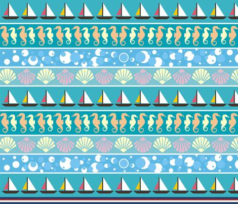 Nautical fabric by fabulosa1984 on Spoonflower - custom fabric