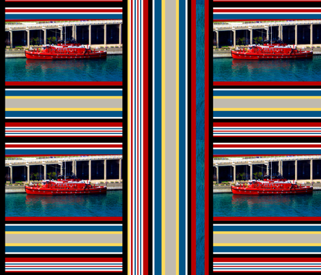 NAUTICAL FIRE DEPT. fabric by paragonstudios on Spoonflower - custom fabric