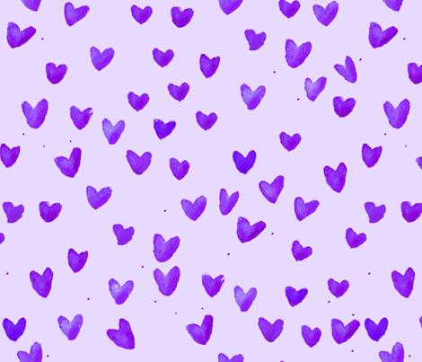 cestlaviv_lavender hearts  fabric by cest_la_viv on Spoonflower - custom fabric