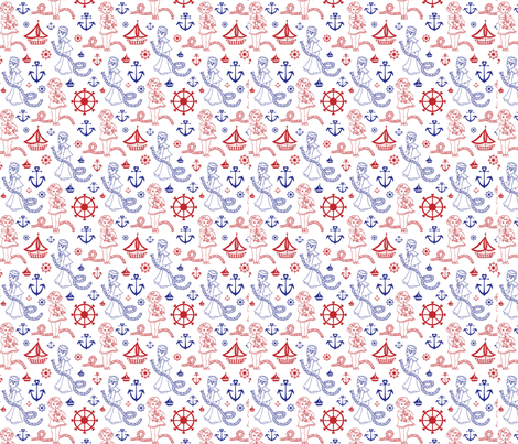 Sailor Kids fabric by lepetiterouge on Spoonflower - custom fabric