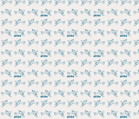 Avion fabric by mandyd on Spoonflower - custom fabric