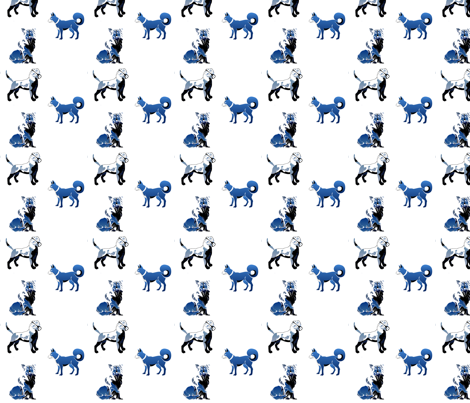 blue_dogs_2-ed fabric by maga2mars on Spoonflower - custom fabric