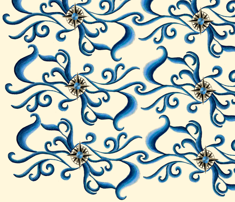Lost at Sea fabric by Hazelhills on Spoonflower - custom fabric