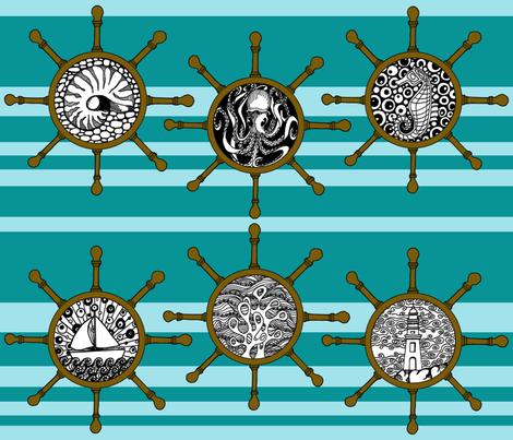 nautical stripey fabric by uzumakijo on Spoonflower - custom fabric