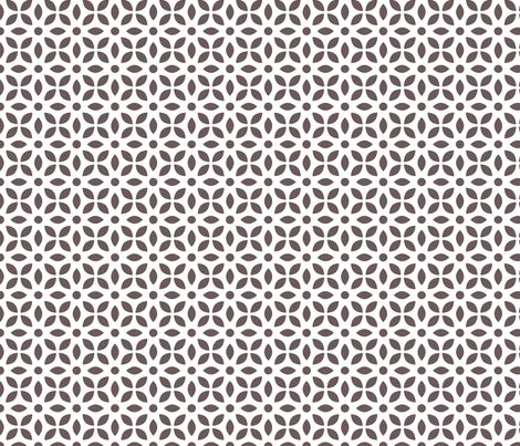 Grey-brown On White Jaali fabric by emmyupholstery on Spoonflower - custom fabric