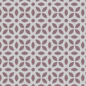 Mauve On Grey Jaali
