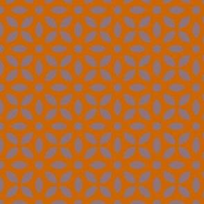 Mauve On Orange Jaali
