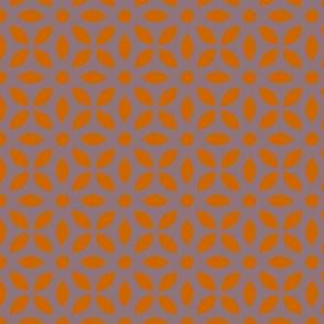 Orange On Mauve Jaali