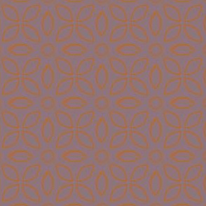 Orange Outline On Mauve Jaalli