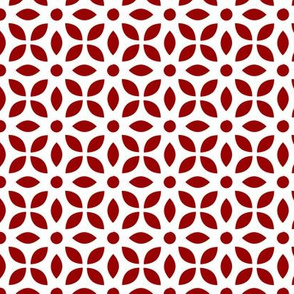 Red On White Jaali