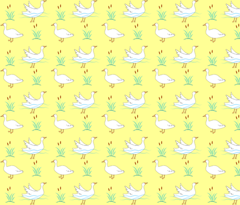 Happy Goose fabric by zoel on Spoonflower - custom fabric