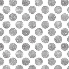 Glitter Dots Silver