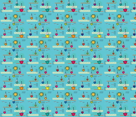 By the Sea fabric by cynthiafrenette on Spoonflower - custom fabric