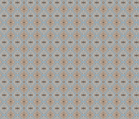 Ocean Villa Pool Pattern 2 © 2010 Gingezel™ Inc. fabric by gingezel on Spoonflower - custom fabric