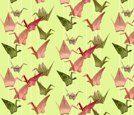 Peace Cranes Mobile fabric by amy_lou_who on Spoonflower - custom fabric