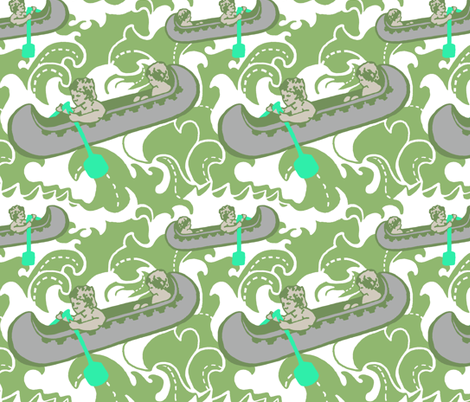 Beyond the Sea fabric by kellyjean on Spoonflower - custom fabric
