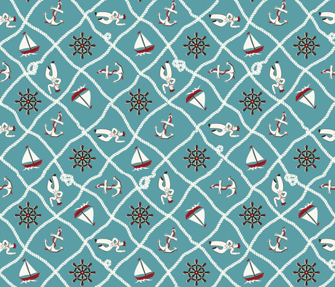 anchors aweigh fabric by minimiel on Spoonflower - custom fabric