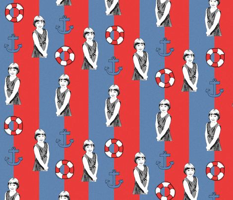 Future Sailor fabric by feebeedee on Spoonflower - custom fabric