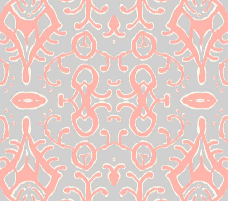 Gray Ikat Background Gray And Coral Ikat