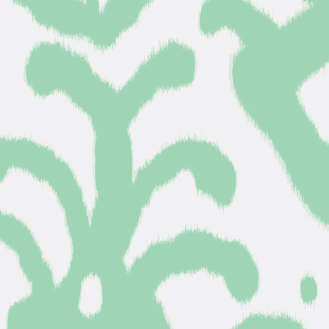 seafoam ikat fabric by domesticate on Spoonflower - custom fabric