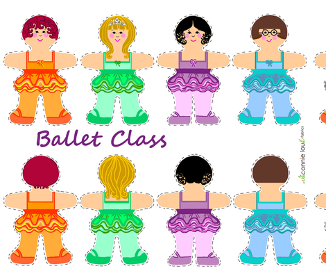 Ballet Class fabric by connielou on Spoonflower - custom fabric