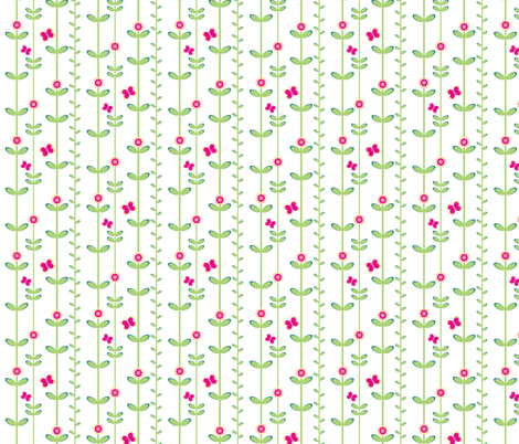 Tall poppies fabric by delsie on Spoonflower - custom fabric