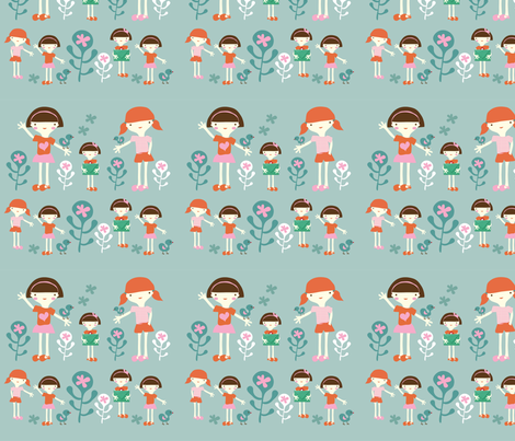 Friends forever fabric by yaelfran on Spoonflower - custom fabric