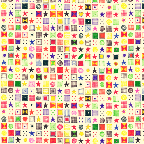teenie baby star mosaic fabric by scrummy on Spoonflower - custom fabric