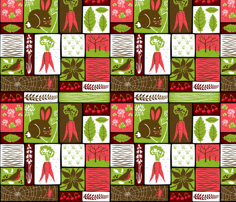 Garden Grid 1 fabric by vinpauld on Spoonflower - custom fabric